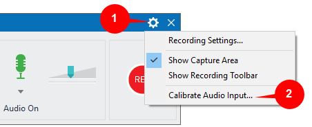 Calibrating audio input