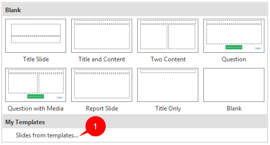 Creating and Using Slide Templates