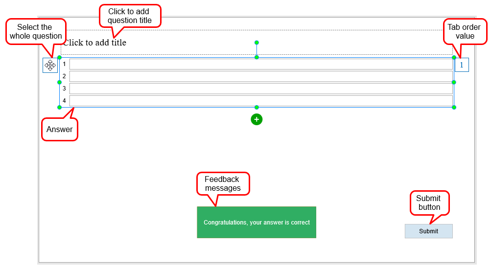 working with fill in multiple blanks questions in activepresenter 7